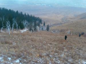 Premières neiges sur les hauteurs autour d'UlaanBaatar