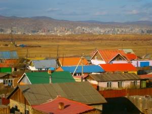 Yarmag, vue sur UlaanBaatar depuis le toit de l'orphelinat