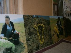 Enerel peint des moutons