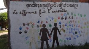Fresque à l'école Ayravadi