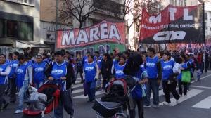 Manifestation de la Cordenada de los Bachilleratos Populares en Lucha